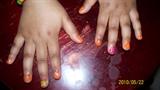 pink orange yellow glitter