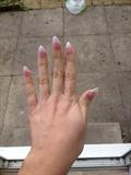 pink on acrylic