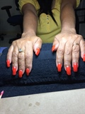 Acrylic Overlay On Her Natural Nails