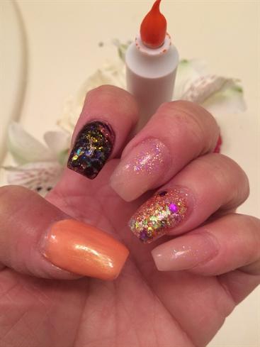 Glitter Mix Nails