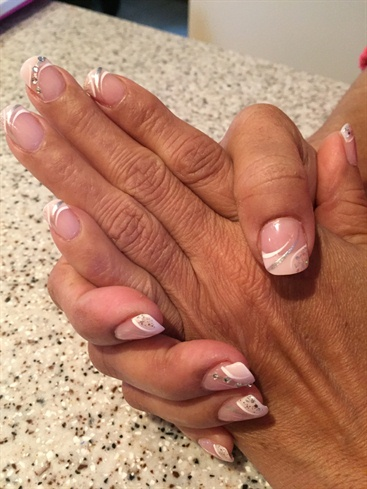 Pink & Whites Nails