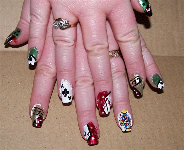 Casino Royale Nail Art Gallery