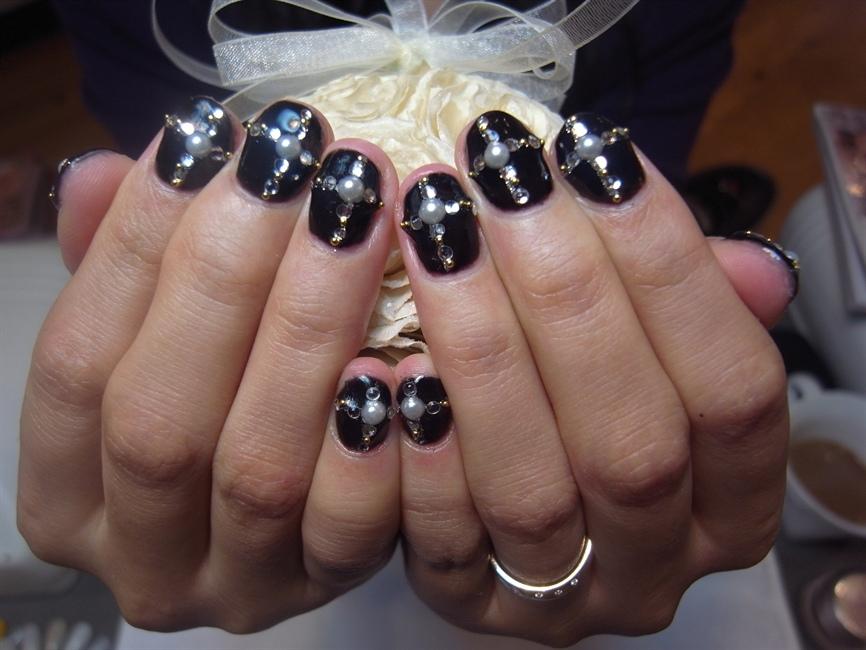 Black Cross Nails Nail Art Gallery
