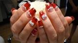HOT RED and BRING BRING nails!