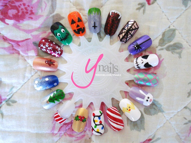 holiday themed nail wheel