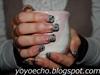 Japanese Ukiyoe (sumi) inspired nails