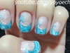 Ocean Wave Inspired Nail Art