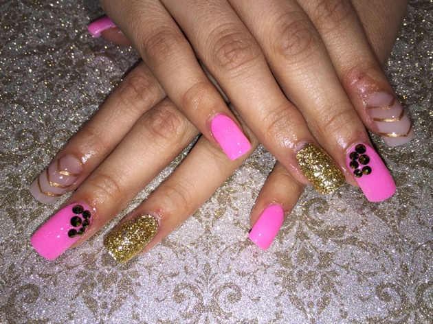 Hot Pink /gold