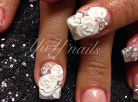 "nail art: ""I do""... love roses"
