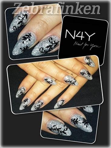 akryl negle nail art