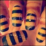 HoneyBee Nail Stripes