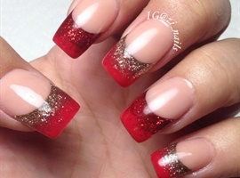 nail art: Red passion christmas