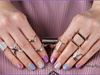 Pastel aztec nails