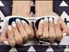 Black&white geometric nails