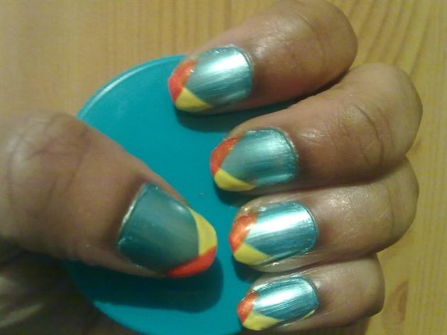 Zini Art Blue Candy Nails