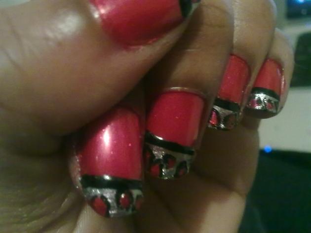 Zini Art Red Leopard Print Nails