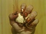 Zini Art Gold Leopard Print Nails