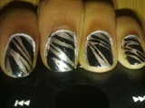 Zini Art Electric Zebra Nails