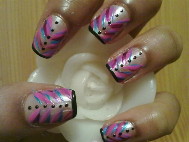 Zini Art Button Princess Nails