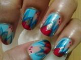 Zini Art Blue Cool Nails