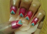 Zini Art Funky Pink Nails