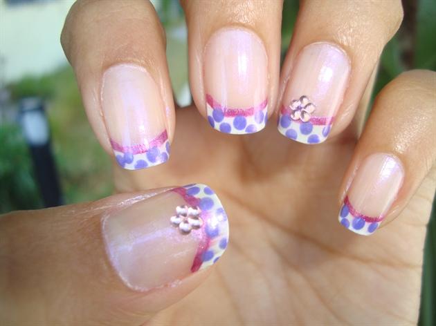 French Purple Polka Dots 1